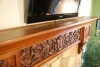 Carved Cherry Mantel